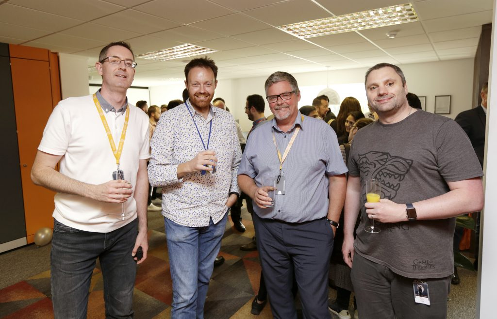 Photo from Condatis Launch party - staff enjoying a beverage