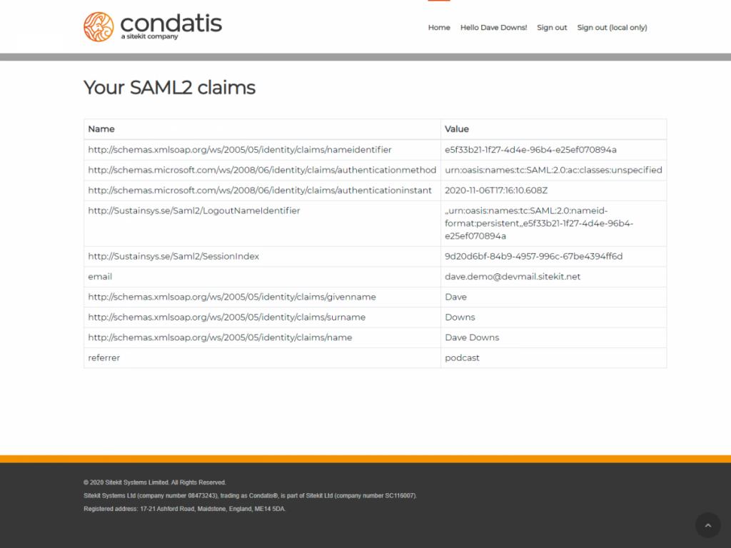 8 - SAML Claims