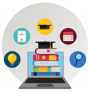 illustration of digital learning tools